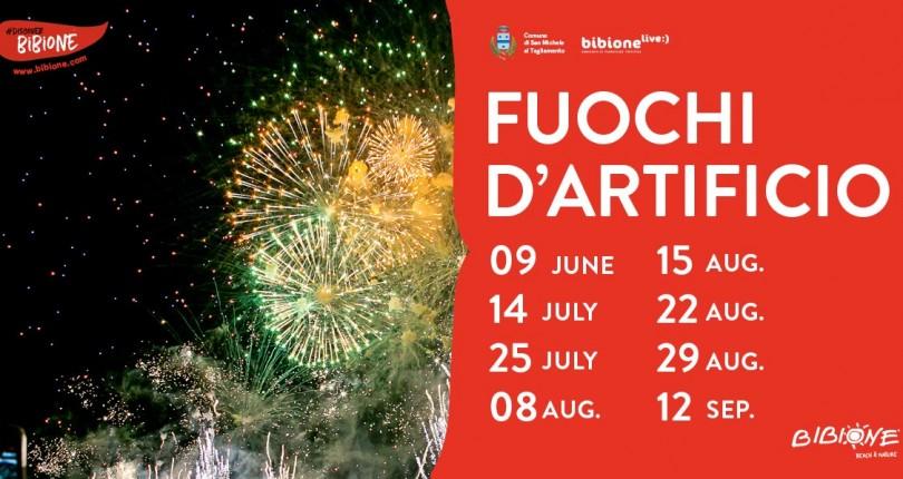 Bibione, fuochi d'artificio per tutta l'estate: ecco il calendario